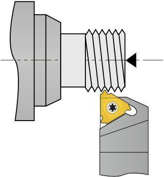 SER 25 25 M3 6110006R MEGA-TEC резьбовая державка для наружной резьбы правая